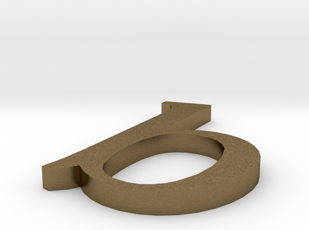 Letter- b in Natural Bronze