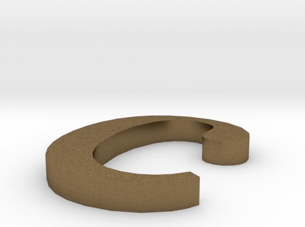 Letter- c in Natural Bronze