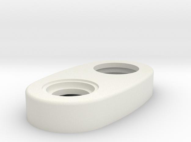 Mechanical - Top Cap Regular Version in White Natural Versatile Plastic