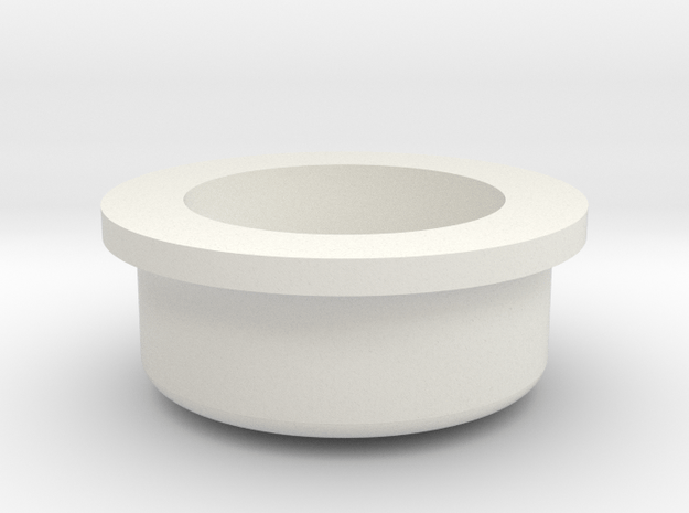 Mechanical - Fire Button Low in White Natural Versatile Plastic