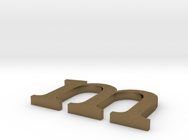 Letter- m in Natural Bronze