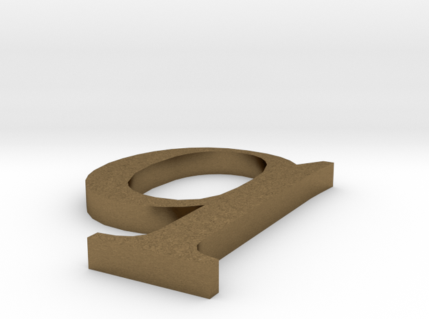 Letter- q in Natural Bronze