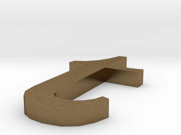 Letter- t in Natural Bronze