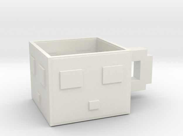 Minecraft Slime Teacup 5.5 Cm in White Natural Versatile Plastic