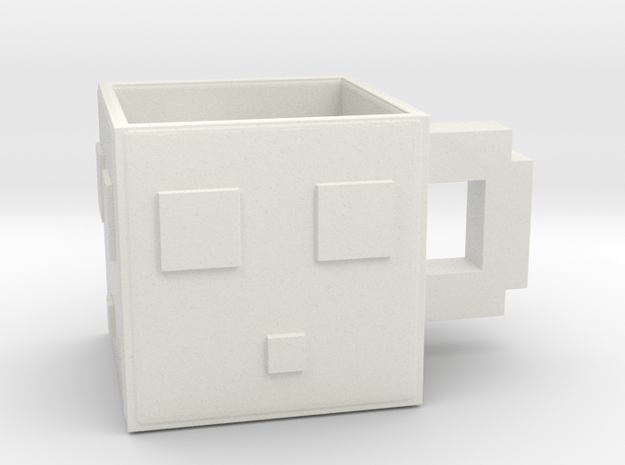 Minecraft Slime Mug 6.5 Cm in White Natural Versatile Plastic