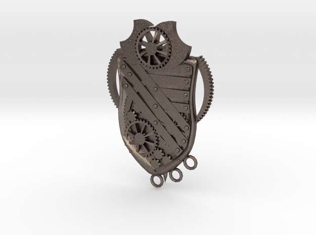 Pin03 in Polished Bronzed Silver Steel