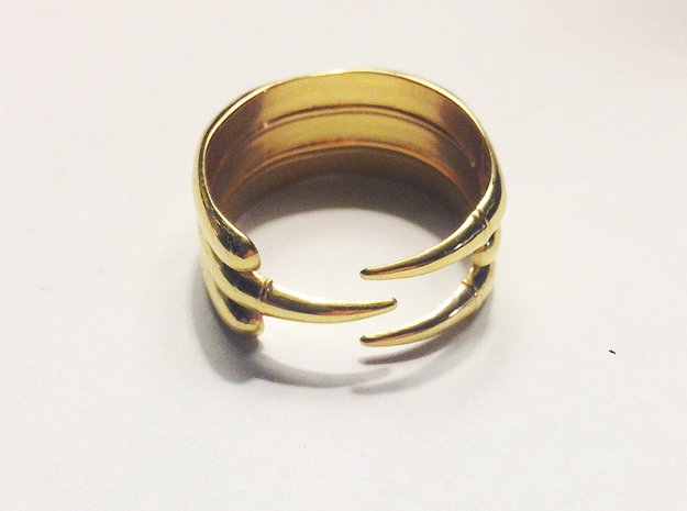 Claw Ring - Sz. 9 in 18K Gold Plated