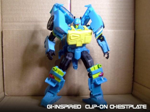 Gen. Nightbeat Upgrade Kit #2 - G1 Box-Art Chest in Yellow Processed Versatile Plastic