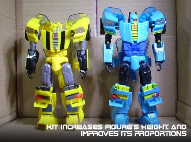 Gen. Nightbeat Upgrade Kit #1 - Height Increase in Blue Processed Versatile Plastic