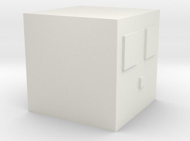 Minecraft Slime Medium in White Natural Versatile Plastic