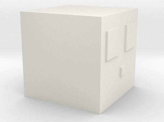 Minecraft Slime Small in White Natural Versatile Plastic
