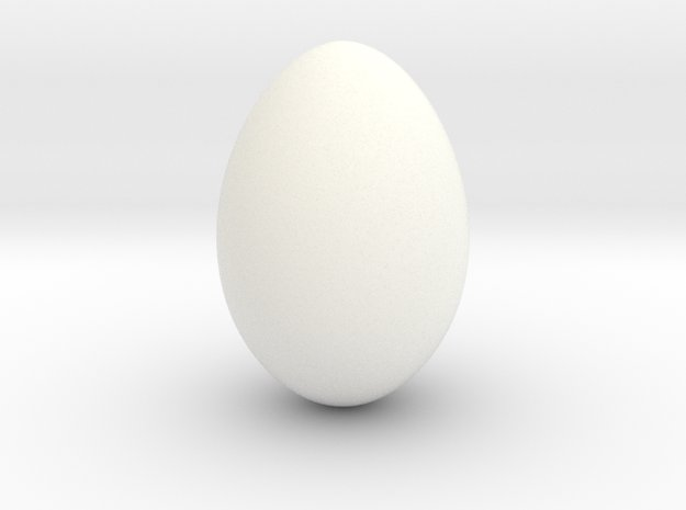 Robin Egg - smooth in White Processed Versatile Plastic