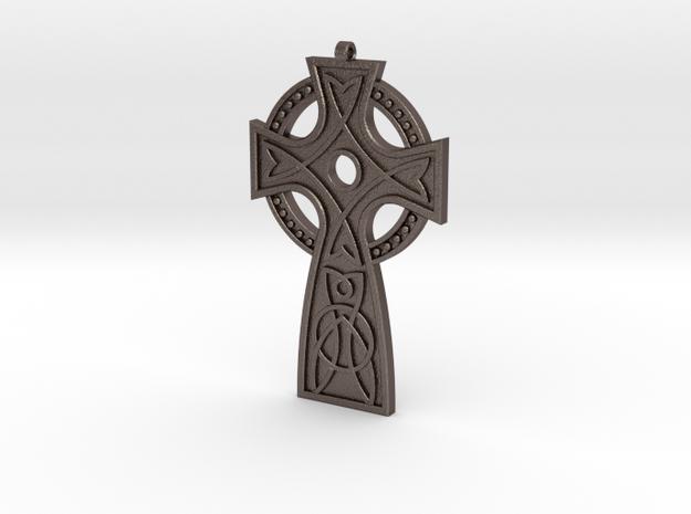 St. Leonard's Cross in Polished Bronzed Silver Steel