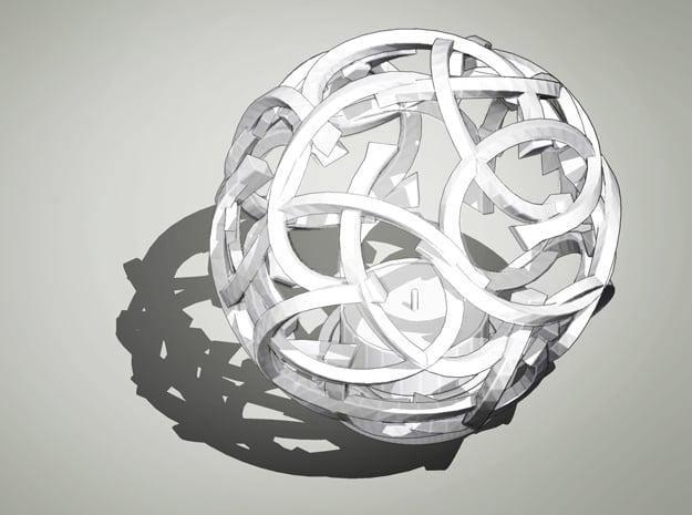 Bramble in White Processed Versatile Plastic