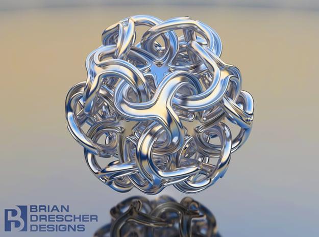 DodaModal Pendant - 25mm in Natural Silver