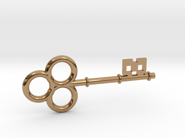 Skeleton Key Small in Polished Brass