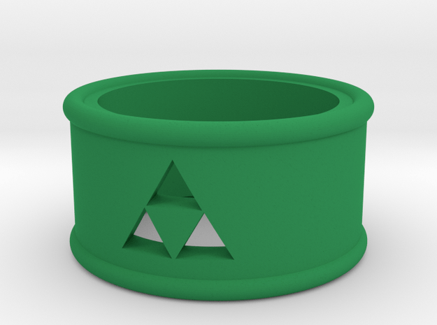 Triforce Cutout Band size 7 in Green Processed Versatile Plastic