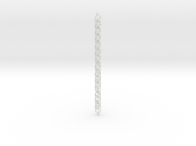 Cube Chain Stretched in White Natural Versatile Plastic