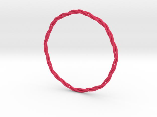 Bracelet 2 Square in Pink Processed Versatile Plastic
