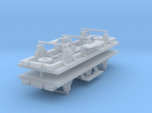 ZB (H0e) - 3ax-Fahrwerke für Liliput Gw - o.Bremse in Smooth Fine Detail Plastic