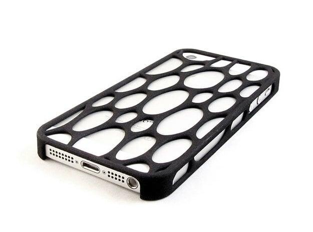 iPhone 5 / 5s Voronoi Case #3 in Black Natural Versatile Plastic