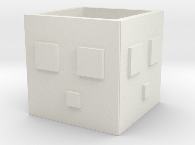 Minecraft Slime Cup in White Natural Versatile Plastic