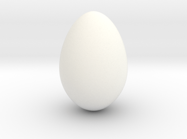 Robin Egg 2 - smooth in White Processed Versatile Plastic