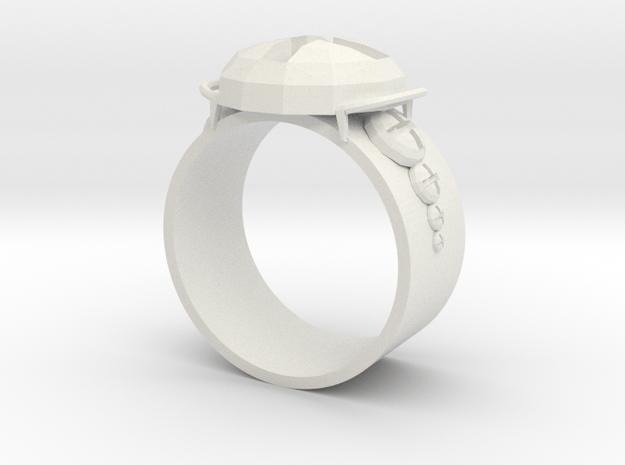 Working Ring in White Natural Versatile Plastic