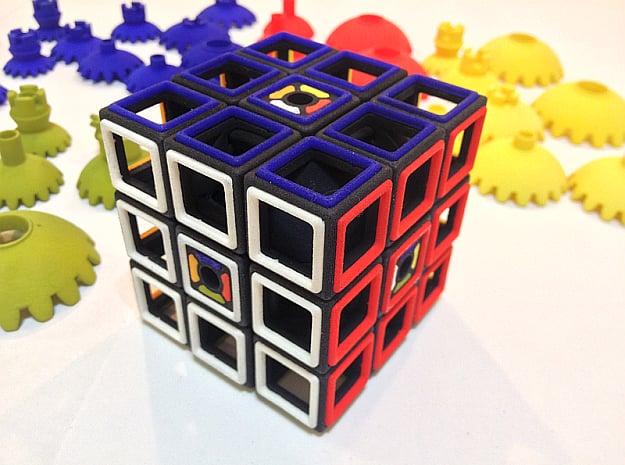 Multi-Gear Cube Kit in Black Natural Versatile Plastic