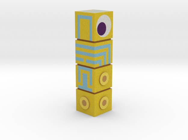 Moument Valley - The Totem figurine (colour) in Full Color Sandstone