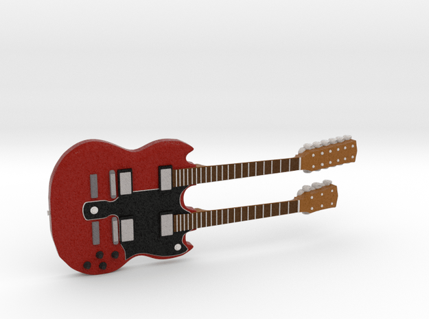 Gibson EDS-1275 Guitar 1:18 in Full Color Sandstone