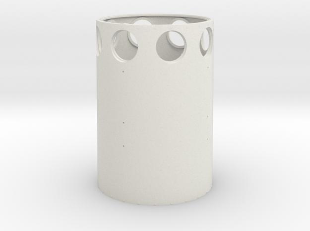 Tower 0 6 in White Natural Versatile Plastic