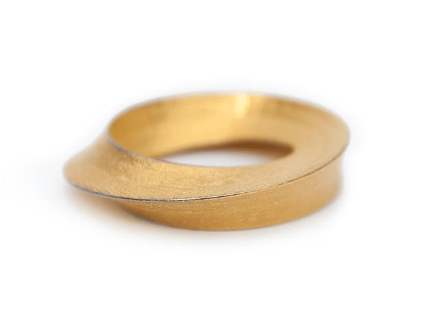 Umibilica in Polished Gold Steel