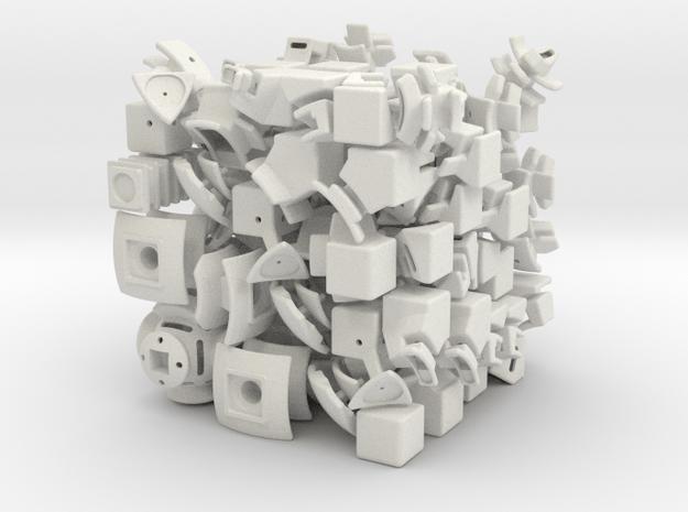 Jupiter DoDep 3x3x3 in White Natural Versatile Plastic