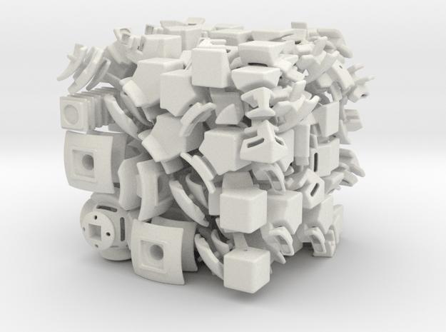 Neptune DoDep 3x3x3 in White Natural Versatile Plastic