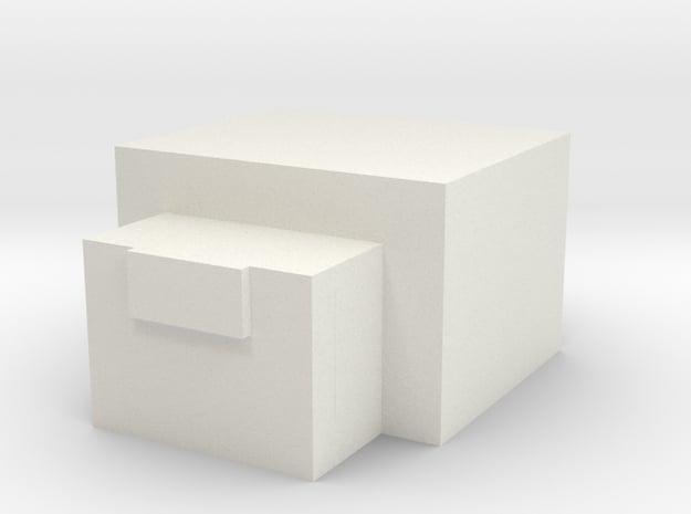 Minecraft Endermite in White Natural Versatile Plastic
