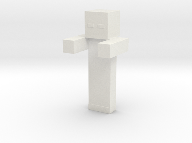 Minecraft Zombie V2 in White Natural Versatile Plastic