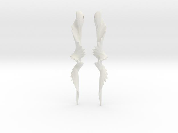 Temporal Twist Drop Earrings in White Natural Versatile Plastic
