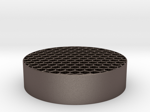 Honeycomb KillFlash 48mm diam 12.5mm height in Polished Bronzed Silver Steel