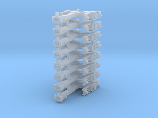 ZB (H0e) - 4P Drehgestelle für 4-ax Gw (Bosna) in Smooth Fine Detail Plastic