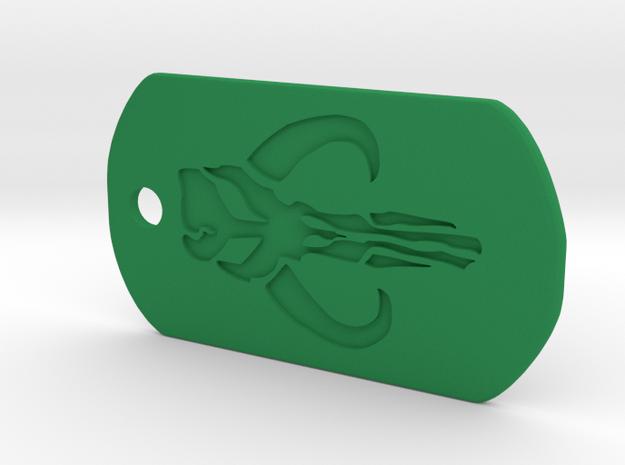 Boba Fett Dog Tag in Green Processed Versatile Plastic