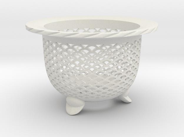 "Neo Pot - Model 1 - Size 3.0 (2.8"" ID) in White Natural Versatile Plastic"