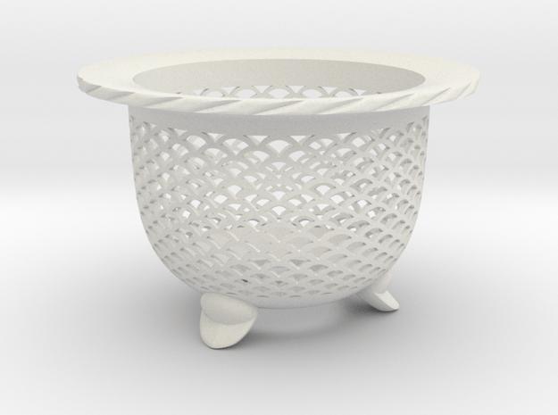 "Neo Pot - Model 1 - Size 3.5 (3.2"" ID) in White Natural Versatile Plastic"