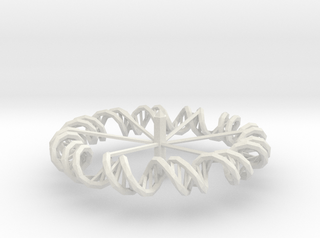 Dna Spinning Top in White Natural Versatile Plastic