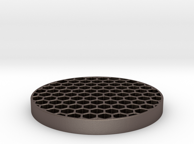 Honeycomb Killflash 48mm 0.77mm thick 4.62mm Clear in Polished Bronzed Silver Steel