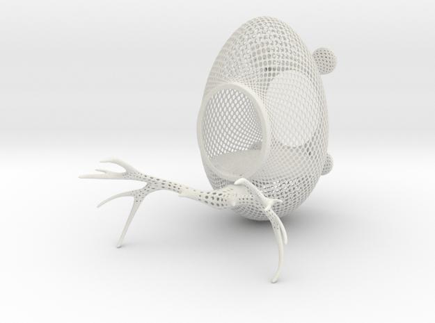 Birdfeeder Shapeways 4.0 in White Natural Versatile Plastic