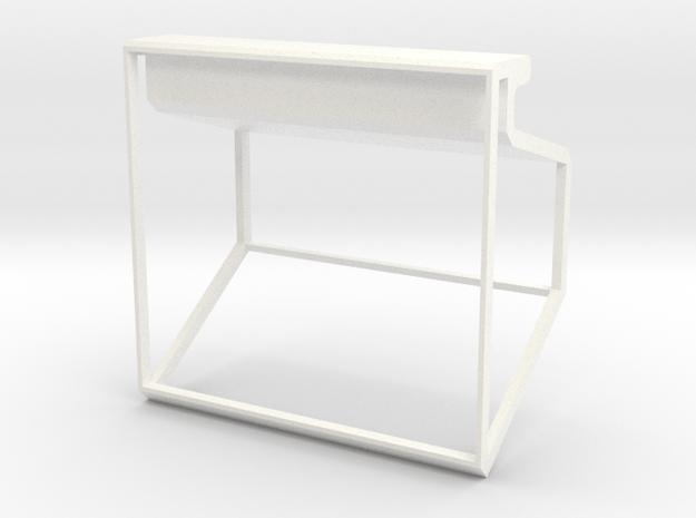 I Phone Stand in White Processed Versatile Plastic