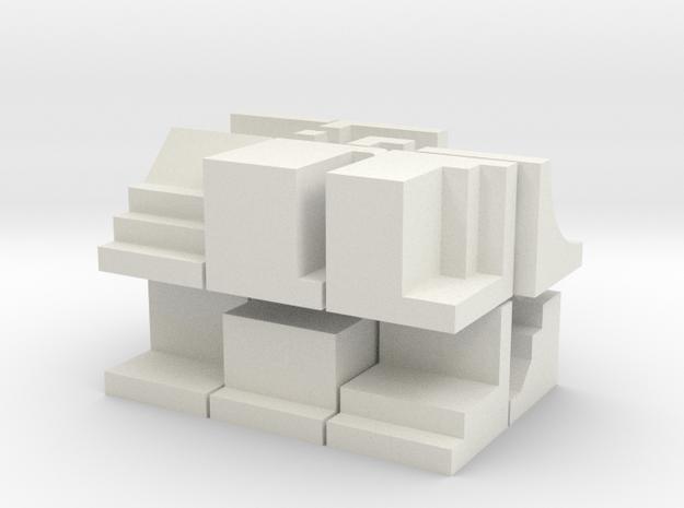 Blokken - kleurloos in White Natural Versatile Plastic
