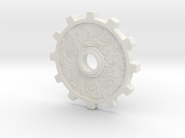 intricate gear in White Natural Versatile Plastic