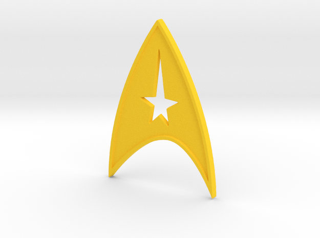 starfleet insigna - command in Yellow Processed Versatile Plastic